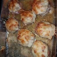 Baconbe tekert töltött gomba Bacon, Cheese, Meat, Chicken, Food, Essen, Meals, Yemek, Pork Belly