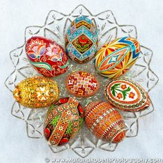Real Traditional Ukrainian Easter Egg by Anna Perun