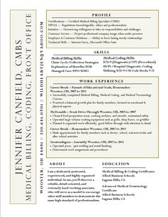 Picture Gallery of medical billing coordinator resume sample Posts related  to Sample Resume Medical Billing and Coding Resume Examples      skills by  sarah