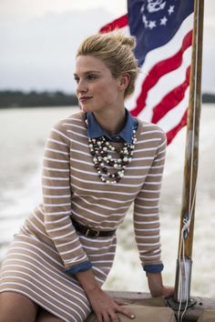 Merino Wool Stripe Sweater Dress