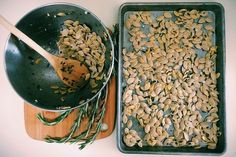 Pumpkins can serve as more than just jack o'lantern ornaments to place on your porch   Cook Pumpkin Seeds For A Great Fall Snack, heres how.   https://homemaderecipes.com/how-to-cook-pumpkin-seeds/