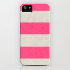 88ad0ea9bea3 vintage hot pink stripes iPhone   iPod Case by her art