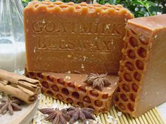 Goat Milk / Beeswax Soap - links to goat milk and beeswax soap, Dead Sea salt soap, and coffee soap.