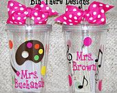 Art, Music Tumblers - Personalized 16 ounce tumbler