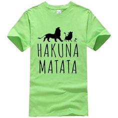 Hakuna ma vodka homme t shirt funny roi lion rétro top quality premium tee