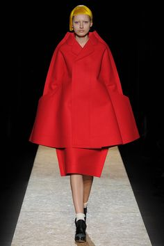 """""""The future's in two dimensions"""" Look 4 Comme des Garçons Fall 2012"""