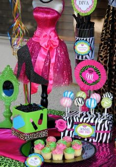 Hey, I found this really awesome Etsy listing at https://www.etsy.com/listing/176078815/glamour-girl-centerpiece-girls-diva
