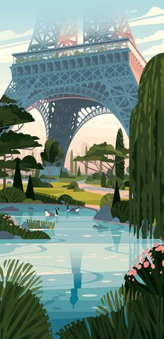 Crushiform was commissioned by Kiblind to create a greeting card illustration for Tour Eiffel. Illustration Agency, Illustration Noel, Travel Illustration, Graphic Illustration, Illustration Editorial, Vector Illustrations, Illustration Artists, Wallpaper Paisajes, Art Watercolor