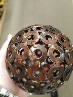 love this decorative ball made from washers.