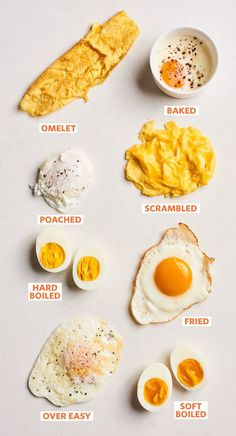 The 8 Essential Methods for Cooking Eggs (All in One Place) Use this as your che. - The 8 Essential Methods for Cooking Eggs (All in One Place) Use this as your cheat sheet for every - Easy Cooking, Healthy Cooking, Cooking Tips, Healthy Snacks, Cooking Recipes, Healthy Recipes, Cooking Steak, Oven Cooking, Easy Egg Recipes