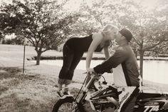 Dirt Bike Theme Engagement Pictures by Desirae Monroe Photography