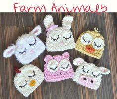 Farm animals, crochet. http://www.facebook.com/Loooopsoflove