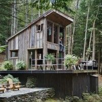 A 14x14 Off The Grid New York Cabin..  Coolness...Need a rope to shimmy up to loft for a workout....