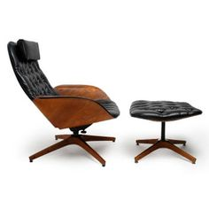 George Mulhauser Lounge Chair and Ottoman