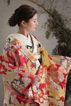 Japanese Wedding Kimono, Kimono Top, Sari, Yahoo, Women, Chanel, Traditional, Fashion, Saree