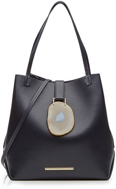 Roland Mouret Leather Tote with Geode Closure