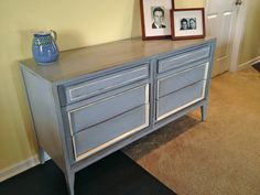 A custom project - dresser turned sideboard in Paris grey and Old White.