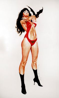 Vampirella once I had this poster on my bedroom door