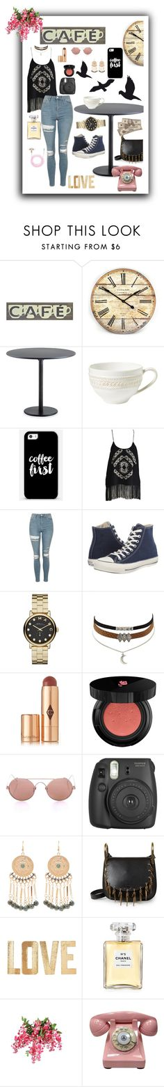 """""""Cafe"""" by kayley2103 ❤ liked on Polyvore featuring Thos. Baker, Juliska, Casetify, Topshop, Converse, Marc by Marc Jacobs, Charlotte Russe, Charlotte Tilbury, Lancôme and Linda Farrow"""