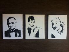 Marlon, Marilyn y Audrey
