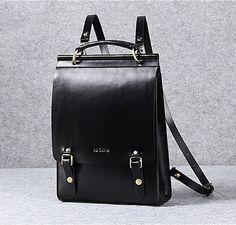 Leather backpack women leather laptop bag leather minimalist