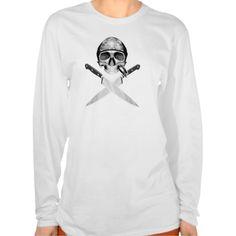 Chef Half Skull Knives v2 Tees