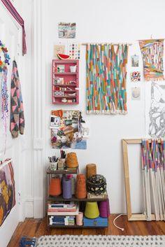 Alicia Scardetta Weaving Tapestry Woven Wall Hanging Fiber Art