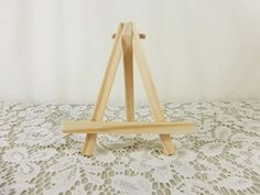 Small Natural Wood Mini Easel, Tabletop Easel, Miniature Wood Easel For Aceo…