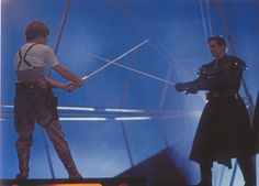 Behind the Scenes Pics from THE EMPIRE STRIKES BACK - Mark Hamill and Stunt (I use this word a lot...) Legend Bob Anderson