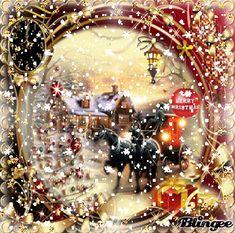 Vintage,Christmas Christmas Scenery, Merry Christmas To All, The Night Before Christmas, Christmas Art, Christmas Greetings, Vintage Christmas, Christmas Bulbs, Christmas Decorations, Xmas Gif