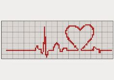 Cross-stitch Beat of My Heart Wedding Cross Stitch, Cross Stitch Heart, Cross Stitch Borders, Cross Stitching, Cross Stitch Embroidery, Cross Stitch Patterns, Cross Stitch Bookmarks, Cross Stitch Cards, Stitches Medical