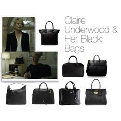 Claire Underwood & Her Black Bags