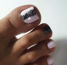 Pretty Toe Nails, Cute Toe Nails, Pretty Nail Art, Gel Nail Art Designs, Pedicure Designs, Pedicure Nail Art, Toe Nail Color, Toe Nail Art, Nail Colors