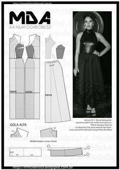 ModelistA: A4 NUM 0048 DRESS Halter Gown