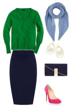 A fashion look from July 2017 featuring sleeve top, navy pencil skirts and suede pumps. Browse and shop related looks. Suede Pumps, Size Clothing, Plus Size Outfits, Pink Blue, Christian Louboutin, J Crew, Fashion Looks, Green, Polyvore