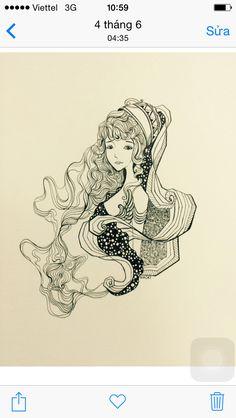 Aquarius ( draw by me)