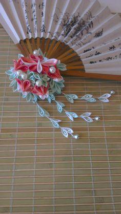 """""""Finde den Schmetterling""""Kanzashi von Hanasaki auf DaWanda.com"""