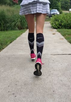 They're awesome. I need these for my aching calves and tootsies at work! Thigh High Socks, Knee Socks, Thigh Highs, Varicose Veins, Hunter Boots, Rubber Rain Boots, Calves, Stockings, Nike