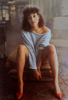 What to wear: A gray sweatshirt and colorful heels. Make your hair big, curly, and as frizzy as possible. How to act: Never leave the dance floor, and pour water over yourself if given the opportunity.  Source: Paramount Pictures