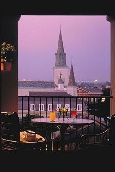 We did Mardi Gras here one year!  The best!    Omni Royal Orleans Hotel balcony shot in New Orleans..