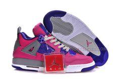 """http://www.nikeriftshoes.com/buy-cheap-air-jordan-4-girls-pink-flash-pink-foilwhitegreyelectric-purple.html Only$89.00 BUY CHEAP AIR #JORDAN 4 GIRLS """"PINK FLASH"""" PINK FOIL/WHITE-GREY-ELECTRIC PURPLE #Free #Shipping!"""