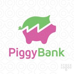 A minimal logo design of a piggy bank great for banking app, financial blog and much more. Savings, money, pig, piggy, pink, statistic, analytics, funds, capital, financial, money, investing, etc.