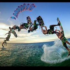 Kiteboarding!!! A sport I do that most people have never heard of. It combines technical aspects of sailing with the physical aspects of surfing or wake boarding.