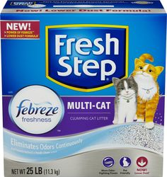 Fresh Step Multi-Cat Scoopable Scented Cat Litter 25 lb. Box