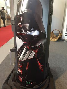 Darth Vader Star Wars wood stove. May the fire be with you! / Darth Vader Star Wars houtkachel!
