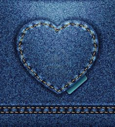"Buy the royalty-free Stock image ""Raster Jeans heart denim texture"" online ✓ All image rights included ✓ High resolution picture for print, web & Social. Denim Background, Paper Background, Background Patterns, Denim Wallpaper, Denim And Diamonds, Crazy Day, Recycle Jeans, Borders And Frames, Love Blue"
