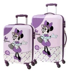 70f2ebcd1 Maleta mediana + MP3 Disney Mickey & Minnie Dots. Maletas Disney ...
