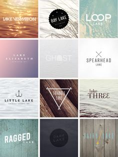 great logos and background overlays