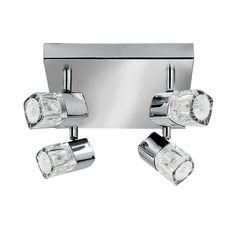 Blocs 4 Light Spotlight - Chrome