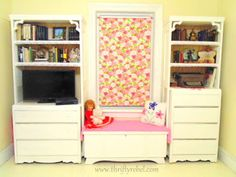 DIY Bifold door and dresser bookcases  / www.thriftyrebel.com